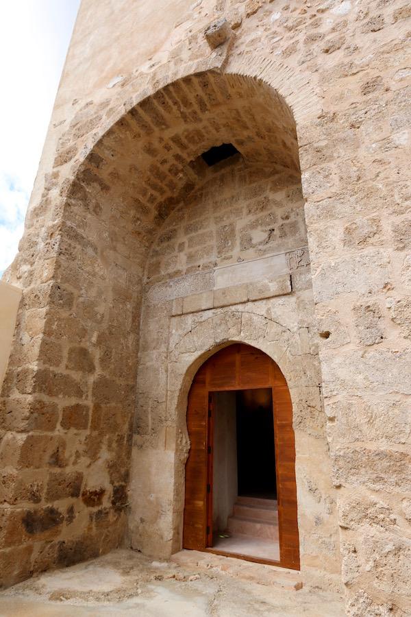 Puerta entrada a la Alcazaba.