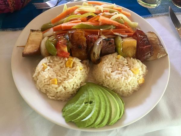 Restaurante El Mesón, pincho vegetales.