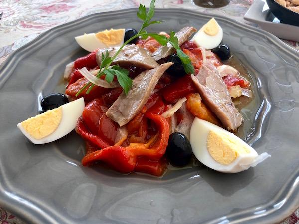 Restaurante Flati, ensalada de pimientos.