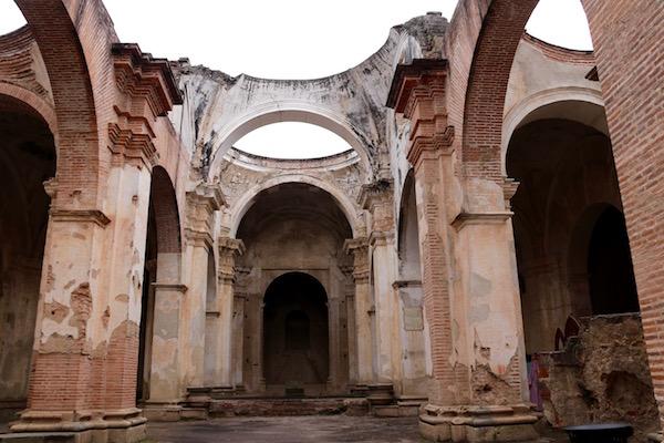 Restos de la antigua catedral de Guatemala.