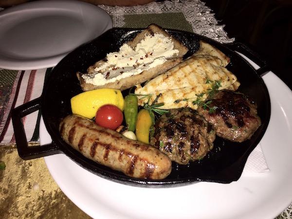 Tabla carnes, Restaurante Shastlivetsa.