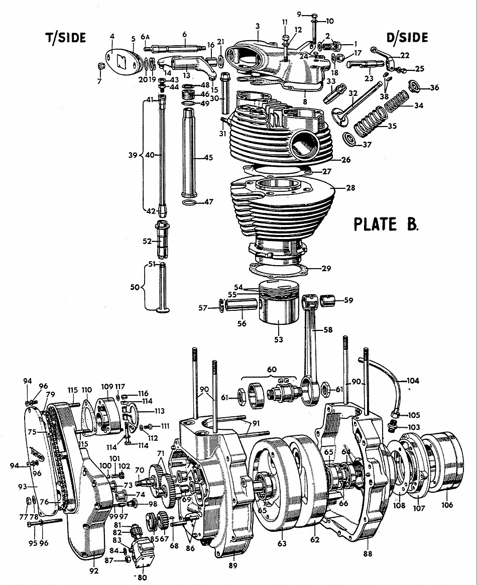 Norton Engine Parts Diagram Battery Isolator Wiring