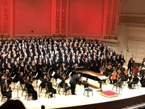 Misatango chorus at Carnegie Hall