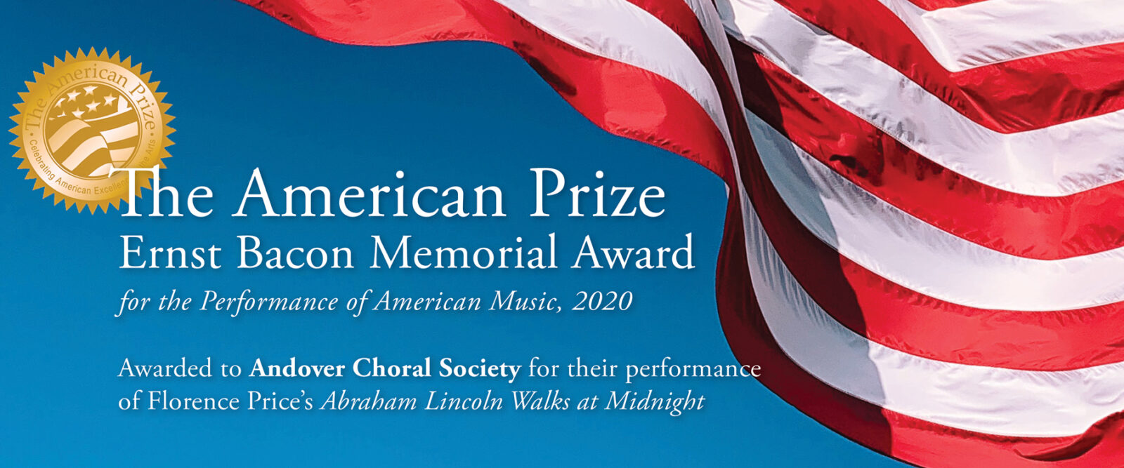 ACS awarded The American Prize