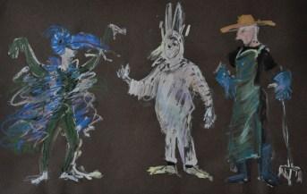 """maquettes pour """"Alice aux pays des merveilles"""""""