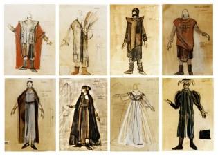 """maquettes pour """"Le roi Lear"""""""