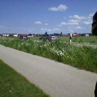Paese bavarese con bellissime piste ciclabili