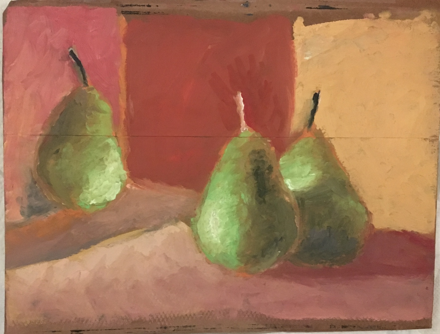oil painting still life pears