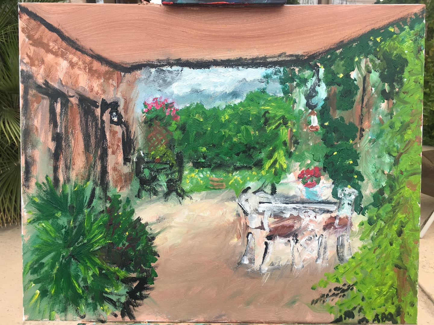 oil painting patio