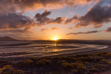 Sonnenuntergang im Westen Schottlands