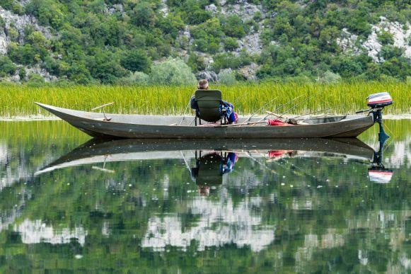 Angler im Skutari See