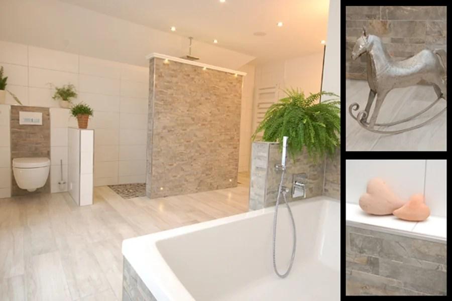 Badezimmer Fliesen Steinoptik Grau