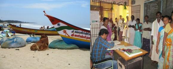 Mon premier contact avec l'Inde à Mahabalipuram et l'hôpital de Nellore et ses files interminables.
