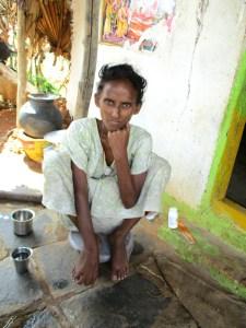 Femme de moins de 30 ans infectée par le VIH / SIDA en Andhra Pradesh.