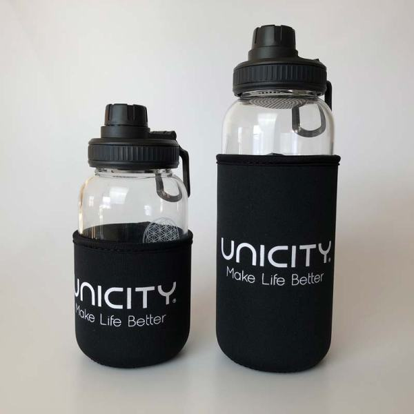 Glasflasche-Kimi-beide-Unicity