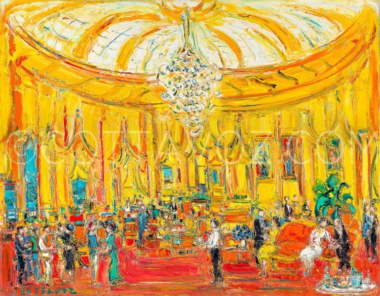 Reception au Negresco 1996-146x114- huile sur toile