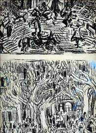 Cottavoz 1975 galerie Kriegel -l ithographies texte Jacques Zeitoun