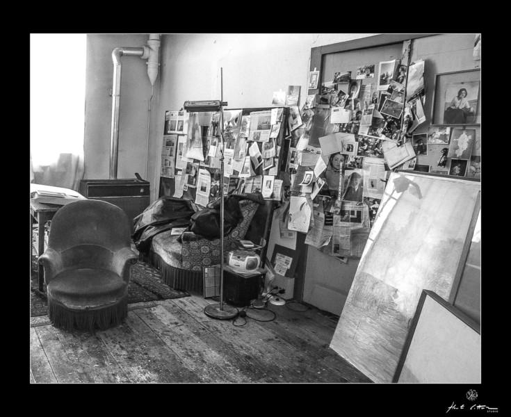 Le fauteuille dans l'atelier du peintre à Lyon