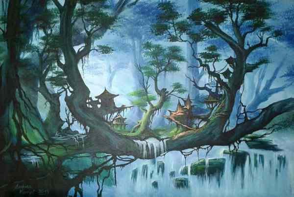 Malerei Dschungel