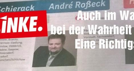 Auch im Wahlkampf bei der Wahrheit bleiben, Herr Schierack! - Eine Richtigstellung.