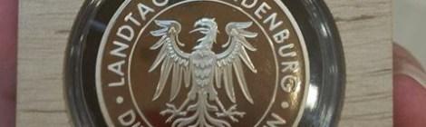 Verleihung der Ehrenmedaille des Brandenburger Landtages an Erhard Stenzel
