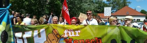 Demo für Menschlichkeit und Miteinander in Strausberg