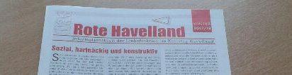 Das rote Havelland - Zeitung der Fraktion im Kreistag Havelland ist erschienen