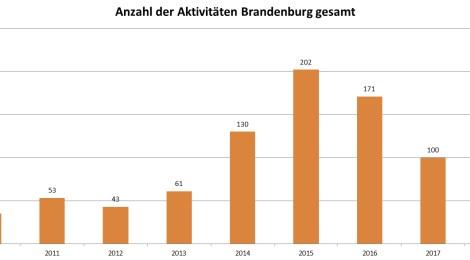 Nachgefragt: Fremdenfeindliche und neonazistische Aktivitäten in Brandenburg im 3. Quartal 2018 – Ausführliche Auswertung mit Übersichten