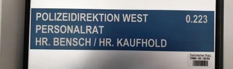 Besuch bei der Polizeidirektion West