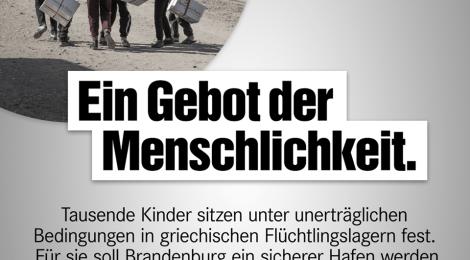 Presseerklärung: Geflüchtete Kinder aus Griechenland nach Brandenburg holen!