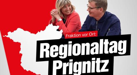 Regionaltag in der Prignitz - Besuch bei der Polizei, öffentliche Fraktionssitzung, Treffen mit Kommunalpolitiker*innen und Veranstaltung