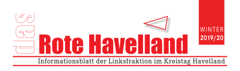 Das Rote Havelland - Zeitung der Fraktion DIE LINKE/Die PARTEI - ist erschienen