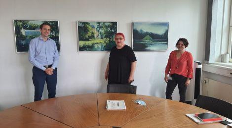 Sommer, Sonne, Sommertour... in Cottbus: Besuche beim Finanzbeigeordneten und der Vorsitzenden des Integrationsbeirats