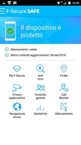 F-Secure SAFE: la dashboard