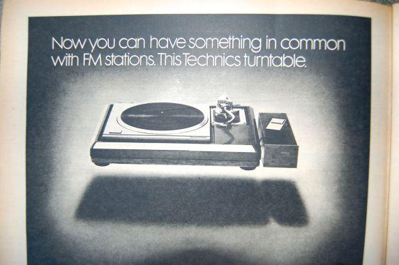 When radio played vinyl - Technics turntable ad, Rolling Stone magazine, 1977 on andreabadgley.com
