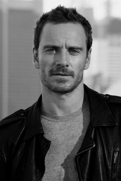 Black and White Photograph of Michael Fassbender