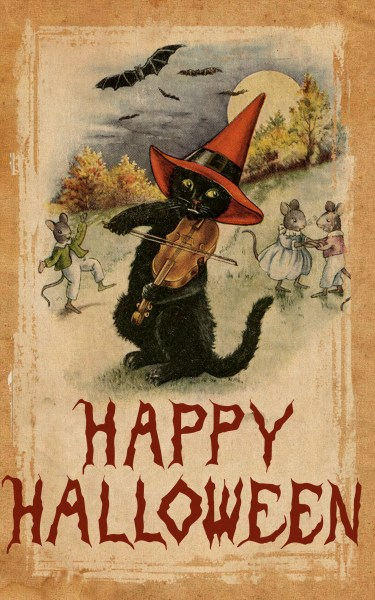 A Halloween Card - use of the Clone tool to hide text.