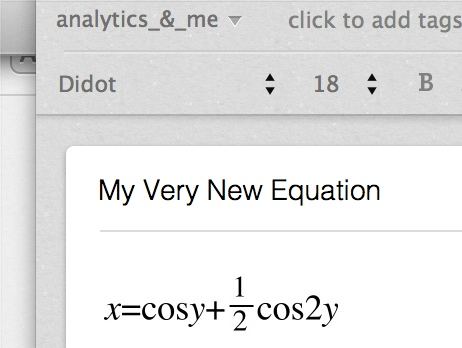 How to Put Equations into Evernote (4/4)