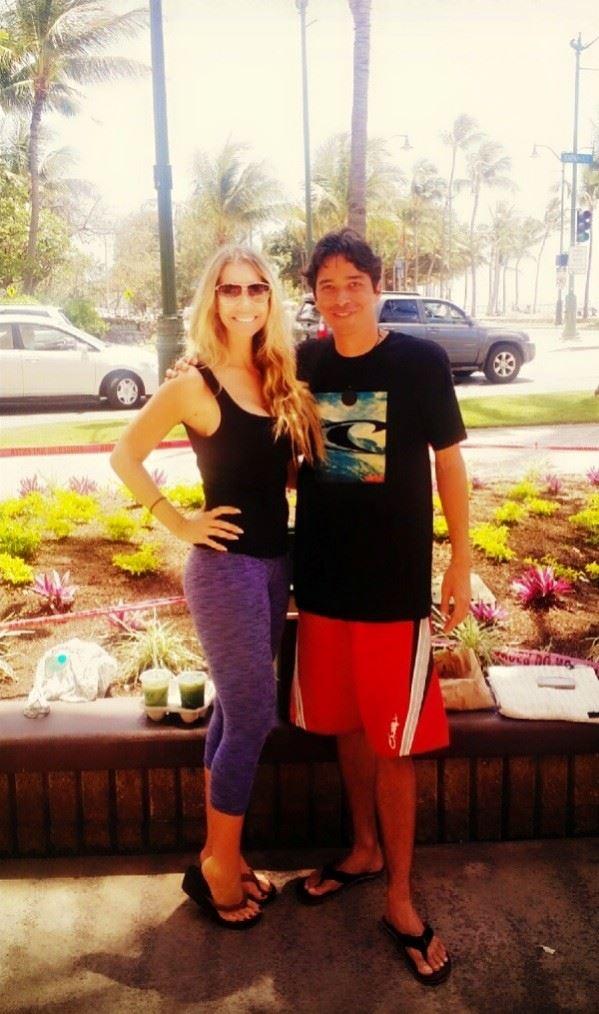 I met a fan who follows me on Facebook:)
