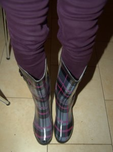 Andrea in wellies 2