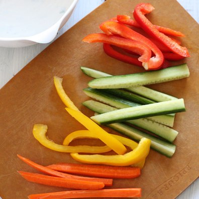 Crudites vegetables