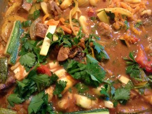 Lambs liver and lambs heart casserole with a spicy twist