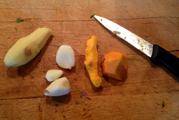 Ginger, garlic, turmeric
