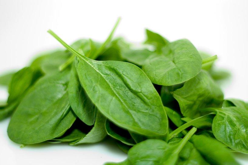 Organic baby leaf spinach