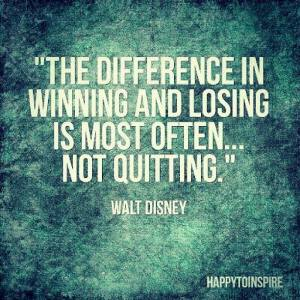 the difference between winning and losing