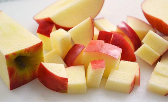 Sweet apple-cherry gluten free flax-oat bread