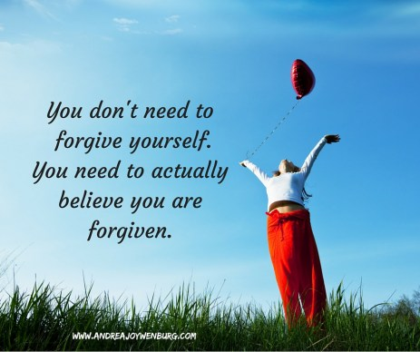 I do not believe you need to forgive yourself. You need to actually believe you are forgiven
