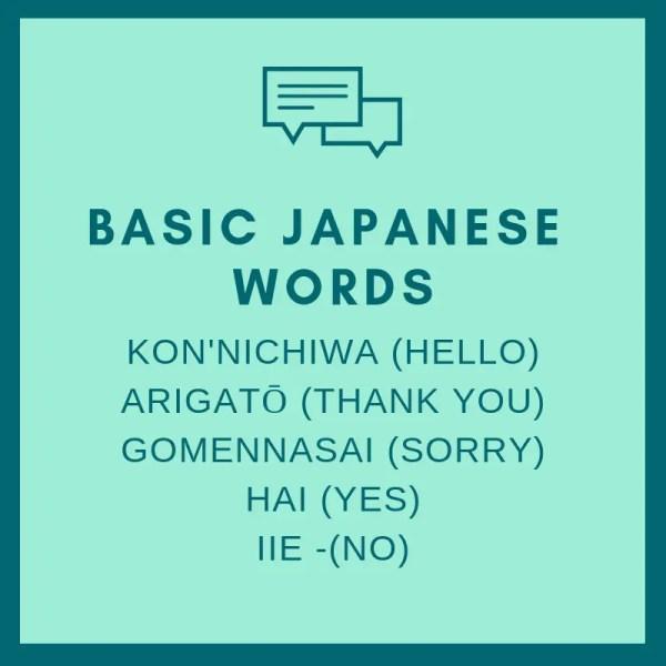 basic japanese words