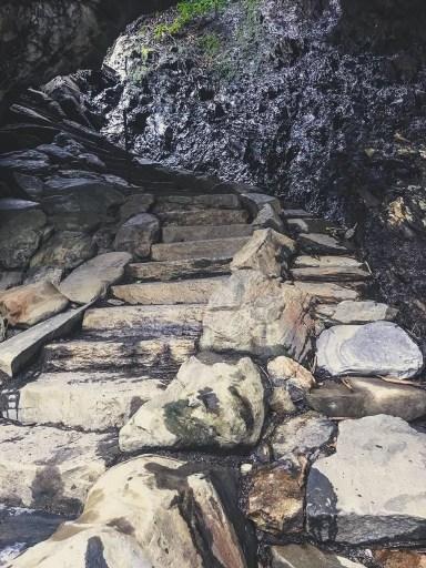 alum cave trail arch rock steps
