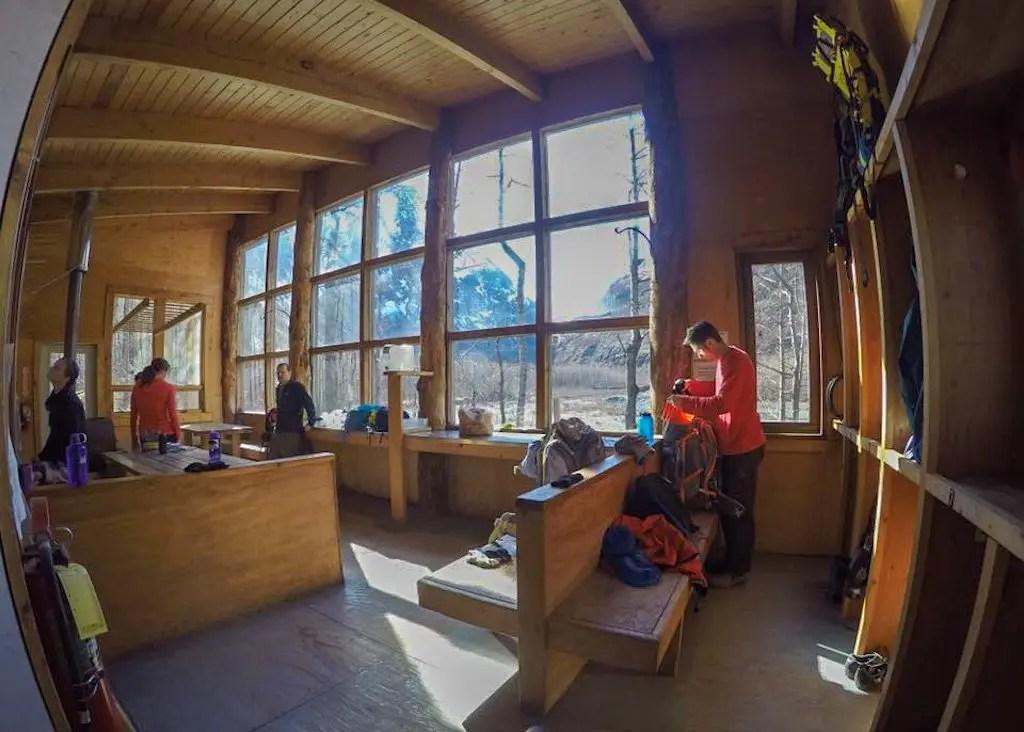 Inside Serenity Falls Cabin Alaska